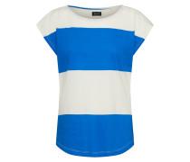 T-Shirt 'Taps' beige / blau