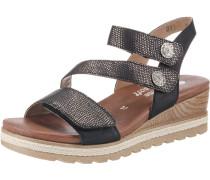 Sandaletten schwarz / silber