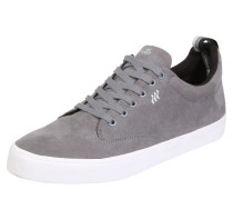 Sneaker in Leder-Optik grau