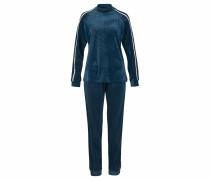 Lounge-Anzug blau / weiß