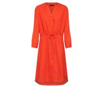 Kleid 'Damina' creme / rot