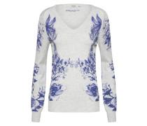 Pullover 'dafne' blau / hellgrau