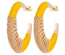Ohrringe 'pcnura' gold / gelb