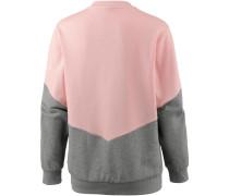 'Sweatshirt' grau / rosa