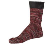 Socken dunkelrot / schwarz