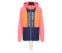 Windbreaker navy / orange / pink