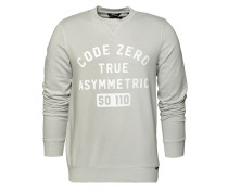 Sweatshirt 'Batten' grau / weiß