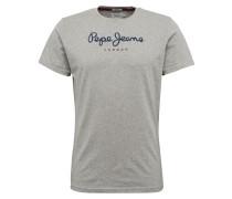 T-Shirt 'eggo' dunkelblau / grau