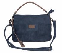 Hobo Bag dunkelblau / braun