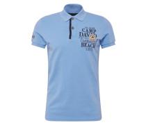 Shirt nachtblau / hellblau