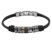 Armband »JF 84196« dunkelbraun / silber