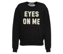 Sweatshirt beige / schwarz