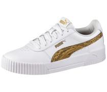 Sneaker 'Carina' gold / weiß