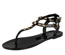 Sandale 'aurelie' gold / schwarz
