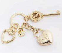 Schlüsselanhänger 'Charm Herz' gold