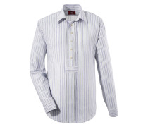 Trachtenhemd himmelblau / grün / weiß