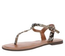 Damen - Sandalen 'Zehentrenner' beige