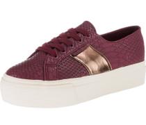 Sneakers Low rotviolett / weiß