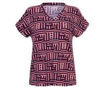 V-Shirt marine / rot / weiß
