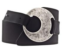 Ledergürtel '60 mm' schwarz