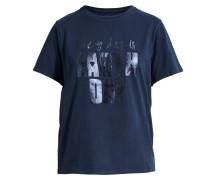T-Shirt 'Lovely Day' navy / silber