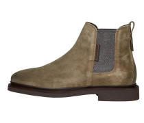 Chelsea-Boots graumeliert / oliv