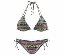 Triangel-Bikini beige / schwarz