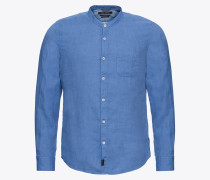 Hemd 'Band collar linen / Shirts/blouses Long Sleeve'