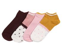 Socken '4P Trainerliner Lurex' pink