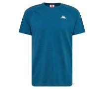 Shirt 'Finley' aqua / weiß