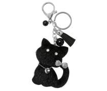 Schlüsselanhänger schwarz / silber