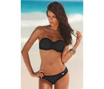 Bügel-Bandeau-Bikini schwarz