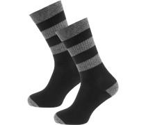 Socken graumeliert / schwarz