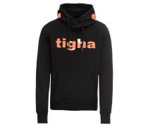Sweatshirt 'West' orange / schwarz