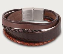Armband aus Leder dunkelbraun