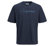 T-Shirt 'Box Fit' navy