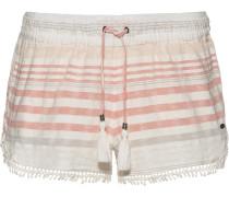 Shorts 'Lace' grau / koralle / perlweiß