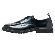 Leder Derby-Schuhe schwarz