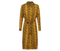 Kleider 'ladies dress' braun / goldgelb