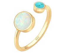 Ring 'Opal' blau / gold
