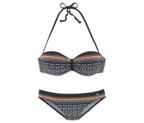 Bügel-Bandeau-Bikini mischfarben / schwarz
