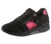 Keilsneaker dunkelpink / schwarz