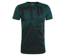 T-Shirt smaragd / schwarz