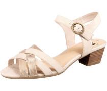 Sandalette beige / gold