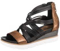 Sandalen bronze / schwarz