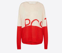 Pullover 'poscosmos Knit' nude / rot