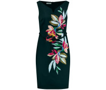 Kleid Gewebe Kleid mit Blütenranke mischfarben