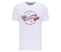 T-Shirt kirschrot / weiß