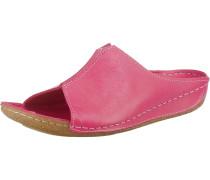 Pantoletten hellbraun / pink
