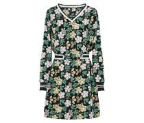 Sommerliches Kleid grün / rosa / schwarz